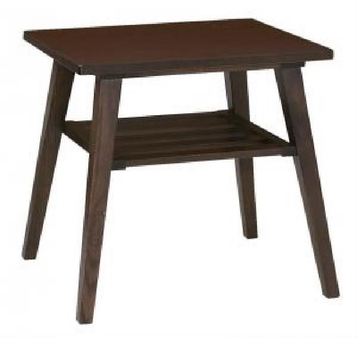 単品ダイニング用サイドテーブルW50ブラウン茶