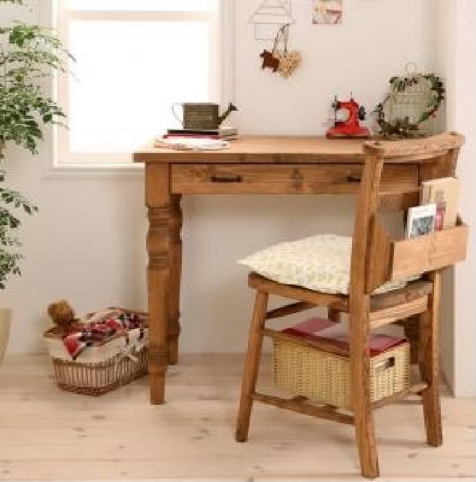 単品 天然木カントリーデザイン家具シリーズ(デスク) 用 ダイニングチェア 1脚 (セット名 ダイニングチェア1脚) イス 椅子