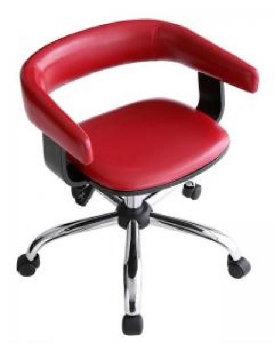モダンデザインオフィスチェア/デスクチェア オフィスチェア 1脚 (カラー レッド) レッド 赤 チェア イス 椅子