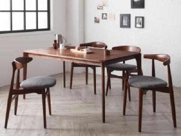 ダイニング 5点セット(テーブル+チェア (イス 椅子) 4脚) 北欧デザイナーズダイニング( 机幅 :W150)( 色 : 【A】アイボリー 乳白色【B】アイボリー 乳白色 )( ミックス )