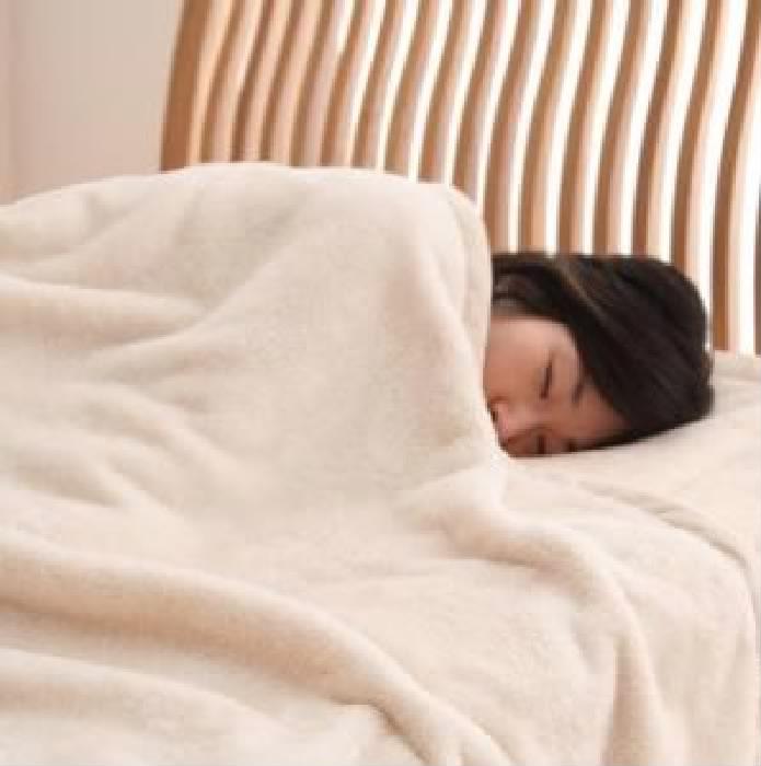 新マイクロファイバー毛布・敷パッド 毛布・パッドセット (幅サイズ クイーン)(カラー ブラック)(サイズ クイーン) 黒