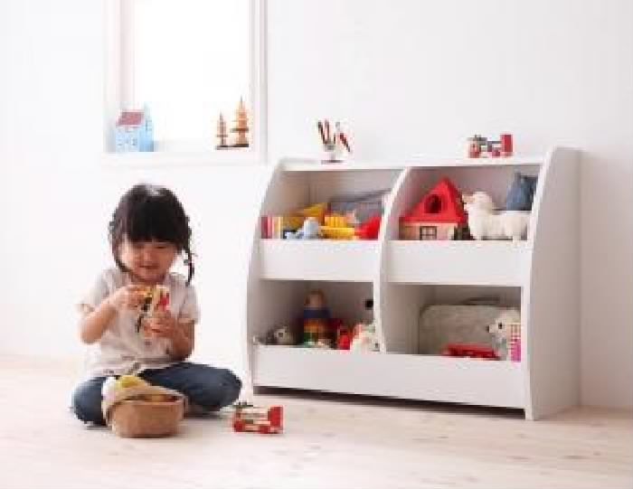 子供用収納 整理 用おもちゃ箱単品 シンプルデザイン キッズ 収納 家具シリーズ( 収納幅 :75.9cm)( 収納高さ :60cm)( 収納奥行 :30cm)( 色 : ウォールナットブラウン 茶 )