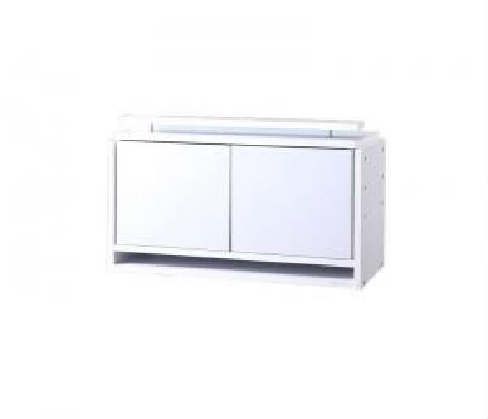 単品 コレクションラック ワイド 用 上置き ロータイプ (幅 83cm)(高さ 45cm)(奥行 39cm)(カラー ホワイト) ホワイト 白
