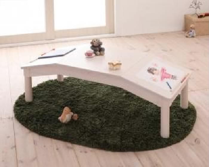 単品 天然木シンプルデザインキッズ家具シリーズ 用 子供用収納 テーブル (幅 117.5cm)(高さ 39cm)(奥行 50cm)(カラー ナチュラル)