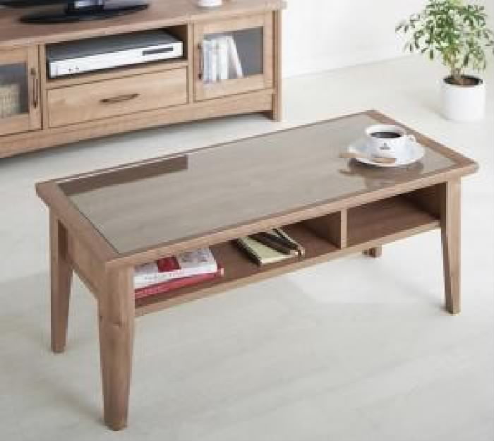 単品 オーク調リビング収納シリーズ 用 ローテーブル (テーブル幅 W90)(テーブル幅 W90)