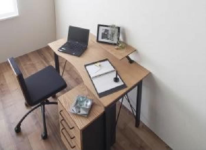 単品 選べる組み合わせ 異素材デザインシステムデスク 用 (デスク幅 W120)(カラー オーク) 机 台 テーブル
