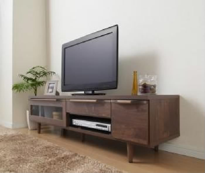 単品 ウォールナット調リビング収納シリーズ 用 テレビボード ローボード (収納幅 150cm)(収納高さ 39.5cm)(収納奥行 41.5cm)(幅 150cm)