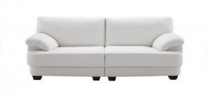スタンダードソファ フランス産フェザー入りモダンデザインソファ( 幅 :3P)( 総幅 :幅160cm)( 色 : ホワイト 白 )