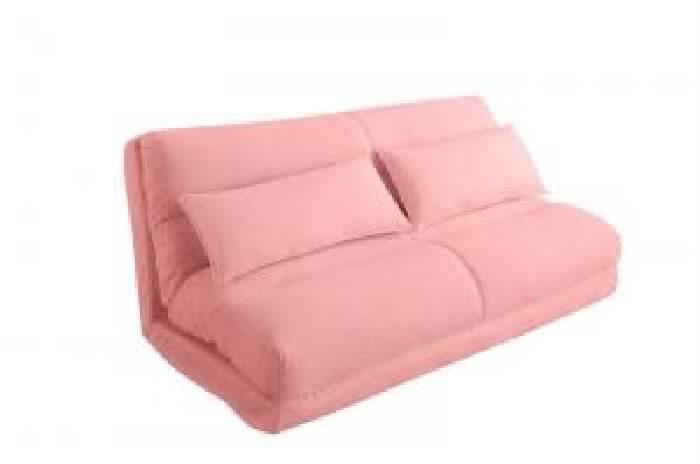 ソファベッド コンパクトフロアリクライニングソファベッド( 幅 :2.5P)( 総幅 :幅140cm)( 色 : ピンク )