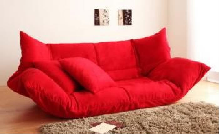 ソファベッド うたた寝できるカバーリングフロアソファ 低い フロアタイプ ローソファ ロータイプ ベッド( 幅 :2P)( 色 : モスグリーン 緑 )( ロータイプ )