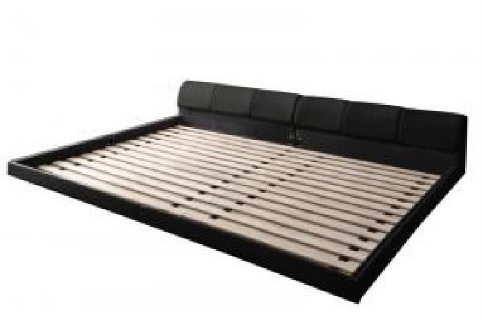 ベッド 連結ベッド モダンデザインレザーフロアベッド ホワイト 連結ベッド用ベッドフレームのみ 単品 低い ロータイプ フロアタイプ SD×2 フレーム色 贈答 :ワイドK240 幅 奥行 卓越 : 白 :レギュラー ローベッド