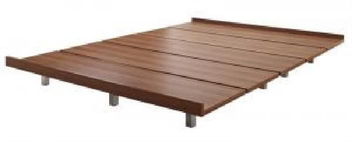 ダブルベッド 茶 デザインベッド用ベッドフレームのみ 単品 デザインボードベッド( 幅 :ダブル)( 奥行 :レギュラー)( フレーム色 : ウォルナットブラウン 茶 )( スチール脚タイプ )