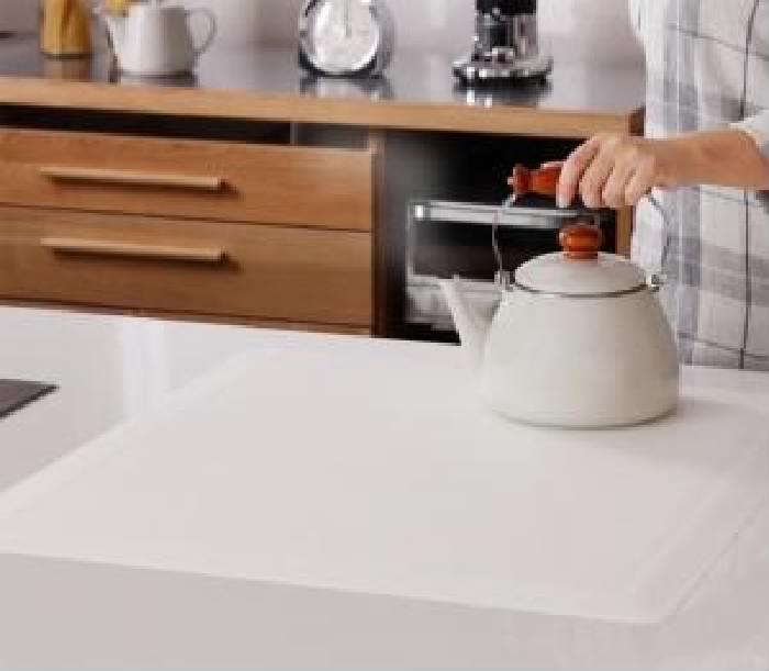 単品 透明ラグ・シリコンマット シリーズ 用 キッチンカウンター保護マット (幅×高さ 45×57.5cm)(幅×高さ 45×57.5cm)