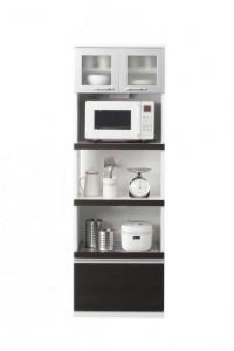 奥行41cmの薄型モダンデザインキッチン収納 キッチンボード 組立設置 (幅 60cm)(高さ 180)(奥行 41cm)(カラー ホワイト)
