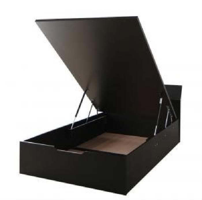 セミダブルベッド 茶 大容量 大型 収納 整理 ベッド用ベッドフレームのみ 単品 モダンデザイン_ガス圧跳ね上げ らくらく 収納 ベッド( 幅 :セミダブル)( 奥行 :レギュラー)( 深さ :深さグランド)( フレーム色 : ダークブラウン 茶 )( 組立設置付 縦開き )