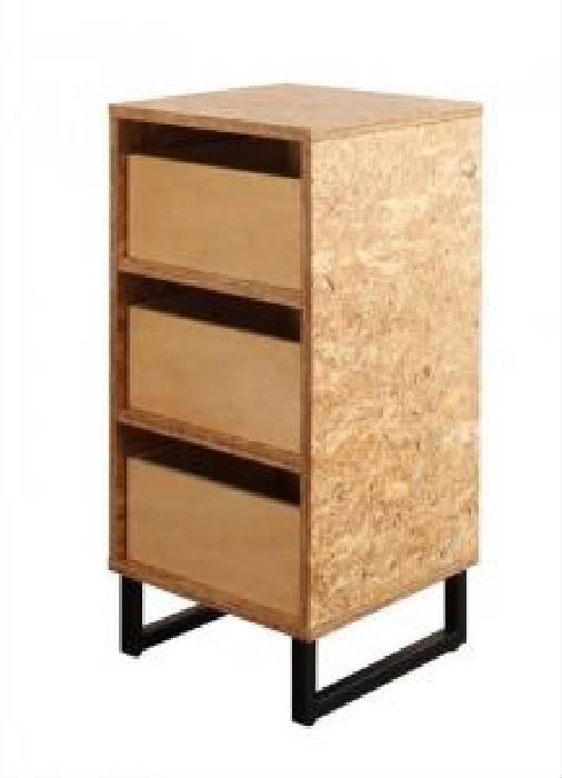 デザインベッド用ラック単品 ヴィンテージ レトロ アンティーク デザインOSBすのこ 蒸れにくく 通気性が良い ベッド( 収納幅 :39cm)( 収納高さ :81cm)( 収納奥行 :39cm)( 色 : ナチュラル )( ディスプレイラック )
