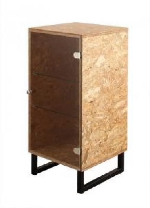 デザインベッド用ラック単品 ヴィンテージ レトロ アンティーク デザインOSBすのこ 蒸れにくく 通気性が良い ベッド( 収納幅 :39cm)( 収納高さ :81cm)( 収納奥行 :39cm)( 色 : ナチュラル )( オープンラック )