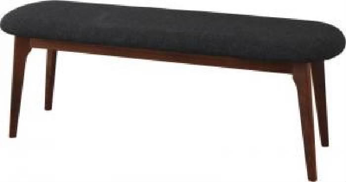 ダイニング用ベンチ単品 古木風×金属 スチール 脚ナチュラルモダンデザインダイニング( ベンチ座面幅 :2P)( 座面色 : ダークグレー )( WBR )