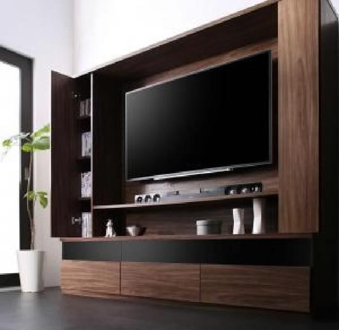 壁掛け機能付きハイタイプTVボード テレビボード (幅 180cm)(高さ 160cm)(奥行 45cm)(メインカラー ウォルナットブラウン) ブラウン 茶