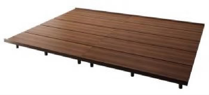 連結ベッド用ベッドフレームのみ 単品 デザインファミリーベッド( 幅 :ワイドK240(S+D))( 奥行 :レギュラー)( フレーム色 : ウォルナットブラウン 茶 )