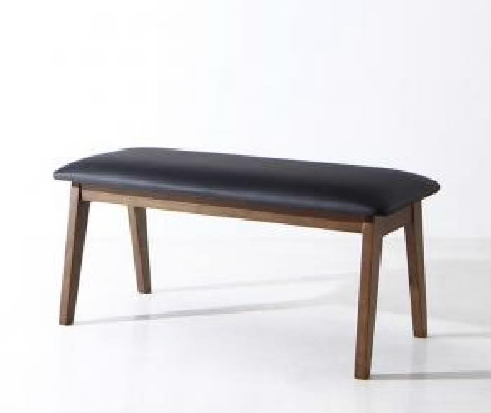 機能系テーブルダイニング用ベンチ単品 モダンデザイン スライド伸縮テーブル ダイニング( ベンチ座面幅 :2P)( 座面色 : ブラック 黒 )