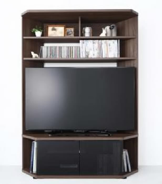 テレビ台用テレビボード TVボード 単品 ハイタイプ 高い コーナーテレビボード ( 収納幅 :120cm)( 収納高さ :162cm)( 収納奥行 :40.3cm)( メイン色 : ブラウン 茶 )
