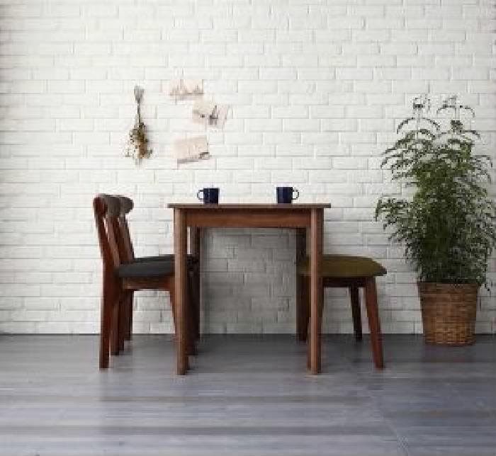 ダイニング 4点セット(テーブル+チェア (イス 椅子) 2脚+ベンチ1脚) カフェ ヴィンテージ レトロ アンティーク ダイニング ブラウン W115( 机幅 :W115)( イス色 : ダークグレー2脚 )( ベンチ色 : グリーン 緑 )( ブラウン 茶 W115 )