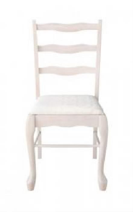 デザインベッド用チェア (イス 椅子) 1脚単品 シェルモチーフの大人女子フレンチエレガントデザインアイアンベッドシリーズ( イス座面色 : ホワイト 白 )
