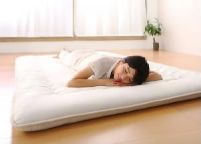 シングルベッド 白 畳ベッド用専用別売品(敷布団)単品 布団が収納 整理 できる・美草・小上がり畳連結ベッド( 幅 :シングル)( 寝具色 : アイボリー 乳白色 )