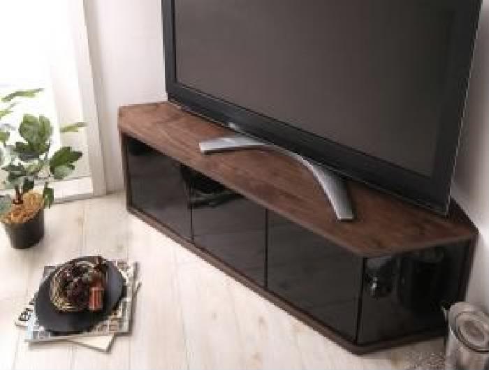 角度調節可能 隠しキャスター付き ハーフコーナーテレビボード (収納幅 115)(収納高さ 38.4)(収納奥行 29)(収納カラー ウォルナットブラウン) ブラウン 茶