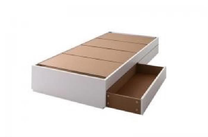 単品 コンパクト収納ベッド 用 ベッドフレームのみ (対応寝具幅 セミシングル)(対応寝具奥行 ショート丈)(フレームカラー ウォルナットブラウン) セミシングルベッド 小さい 小型 軽量 省スペース 1人 ブラウン 茶