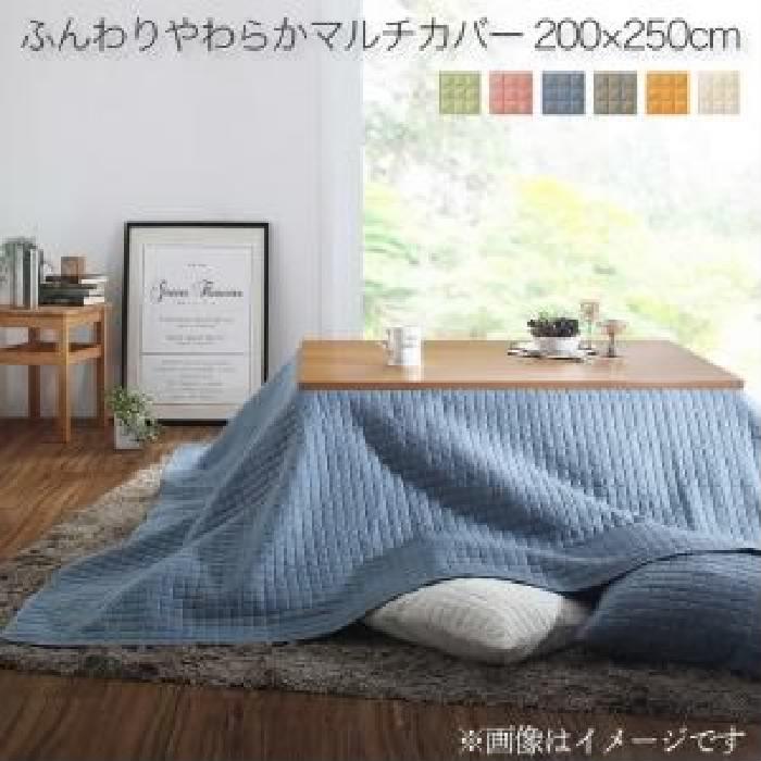 単品 洗える ふんわりやわらか こたつ布団マルチカバー 用 (サイズ 200×250cm)(カラー アイボリー) アイボリー 乳白色