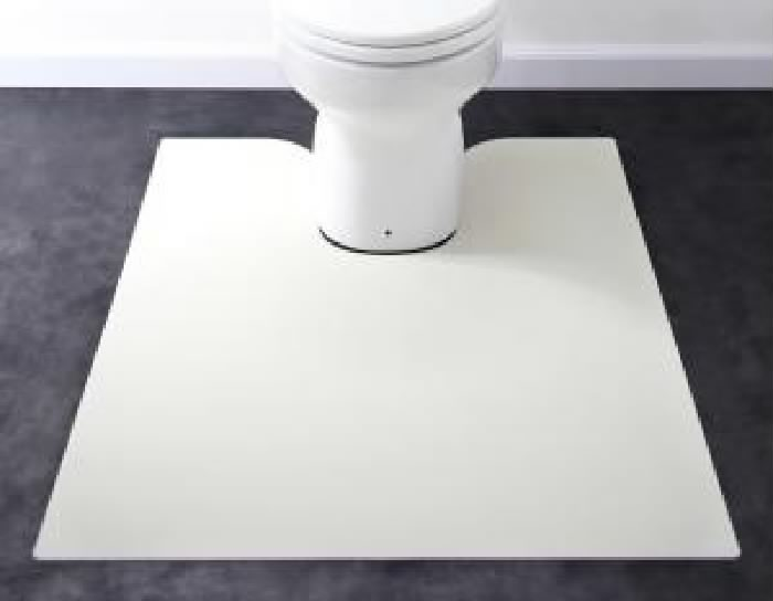 ダイニングラグ用トイレマット単品 拭ける・はっ水 本革 レザー 調モダンダイニングラグ・マット( サイズ :80×95cm)( メイン色 : グレイッシュブラウン 茶 )