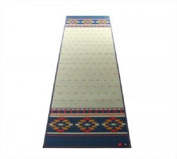 その他(ラグ・マット・カーテン) 11柄から選べるデザイン国産 日本製 畳ヨガマット( サイズ :60×180cm)( 色 : ネイビー )( アース )