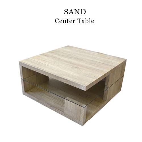 SAND センターテーブル 正方形 SNCT-80 センターテーブル ローテーブル リビングテーブル リビング