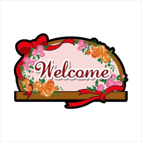 Pデコパネ(デコレーションパネル) 63479 Welcome バラ  【abt-1323730】【APIs】