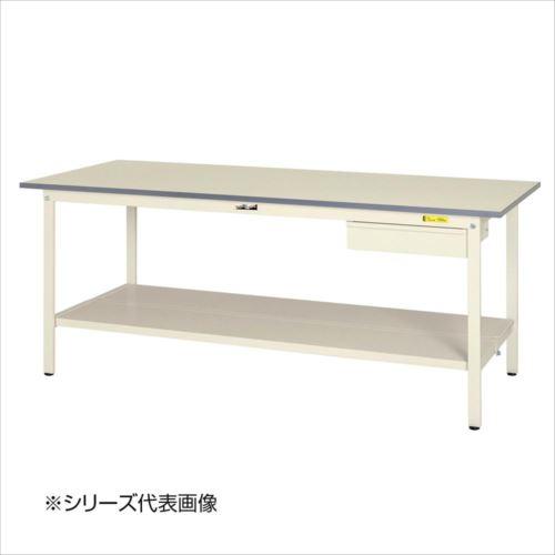 山金工業(YamaTec) SUP-1275UTT-WW ワークテーブル150シリーズ 固定式 キャビネット付(H740mm) 1200×750mm (全面棚板付)  【abt-1413465】【APIs】