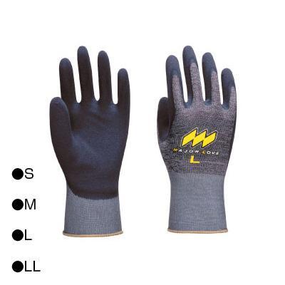 東和コーポレーション(TOWA) 背抜き手袋 メジャーローブフィット グレー 3双組×5袋 322  【abt-1437582】【APIs】