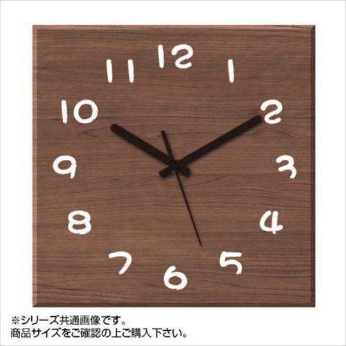 MYCLO(マイクロ) 壁掛け時計 ウッド素材(ウォールナット) 四角 30cm 木製時計 com441  【abt-1461786】【APIs】