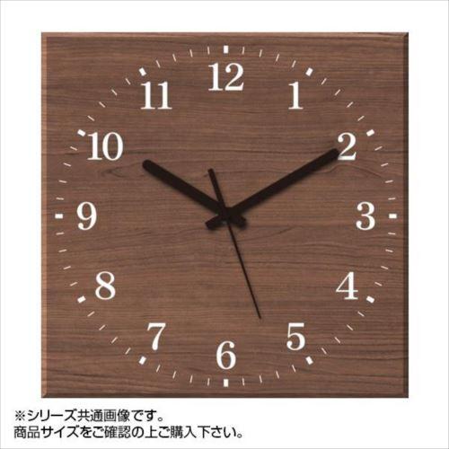 MYCLO(マイクロ) 壁掛け時計 ウッド素材(ウォールナット) 四角 30cm 木製時計 com447  【abt-1461792】【APIs】