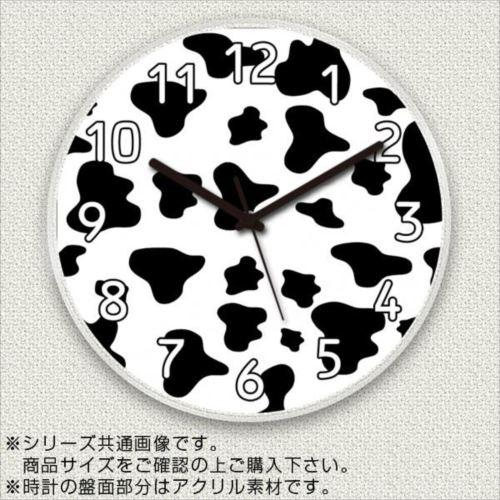 MYCLO(マイクロ) 壁掛け時計 アクリル素材(クリア) 丸型 30cm アニマル柄(牛柄/カウ) com634  【abt-1477042】【APIs】