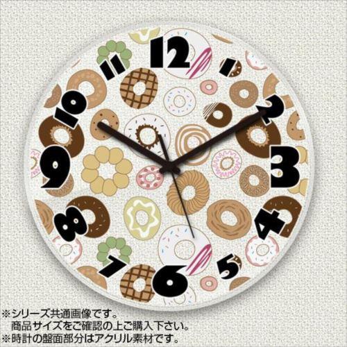 MYCLO(マイクロ) 壁掛け時計 アクリル素材(クリア) 丸型 23cm お菓子(ドーナツ) com680  【abt-1477088】【APIs】