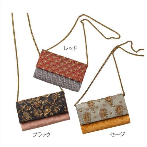 ビーズ刺繍クラッチバッグ M42-1379  【abt-1440934】【APIs】