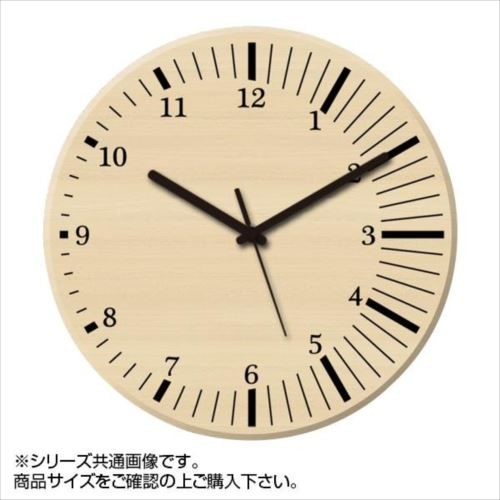 MYCLO(マイクロ) 壁掛け時計 ウッド素材(メープル) 丸型 23cm 木製時計 com412  【abt-1461757】【APIs】