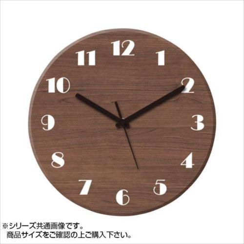 MYCLO(マイクロ) 壁掛け時計 ウッド素材(ウォールナット) 丸型 23cm 木製時計 com430  【abt-1461775】【APIs】