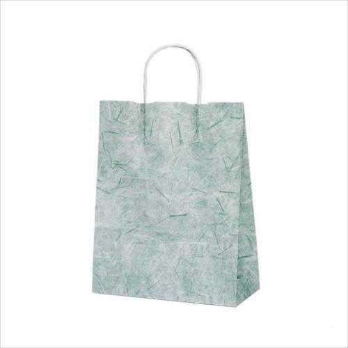 T-X 自動紐手提袋 紙袋 紙丸紐タイプ 260×110×330mm 200枚 彩流(緑) 1593  【abt-1423564】【APIs】