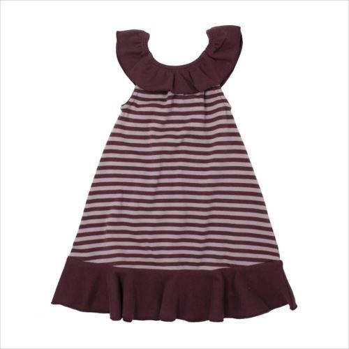 L'ovedbaby Stripe-A-Pose Collection ストライプ ラッフル ドレス sap-416 ラベンダー/エッグプラント・2歳  【abt-1352878】【APIs】