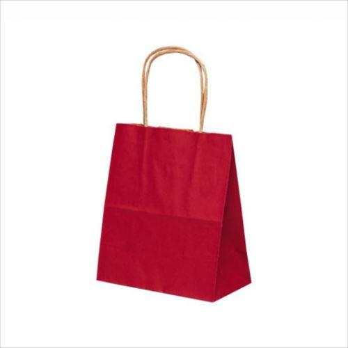 T-1 自動紐手提袋 紙袋 紙丸紐タイプ 180×100×210mm 200枚 カラー(赤) 1114  【abt-1423507】【APIs】