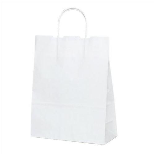 T-X 自動紐手提袋 紙袋 紙丸紐タイプ 260×110×330mm 200枚 白無地 1590  【abt-1423550】【APIs】