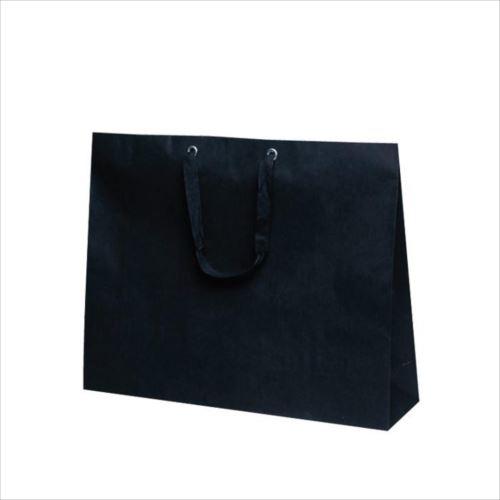 T-ショルダー 13 紙袋 500×130×400mm 50枚 黒無地 1987  【abt-1423820】【APIs】